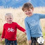 Three Bags Full 100%新西兰纯美利奴羊毛男童上装 2件组自行车图案+海盗船图案