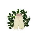 婴儿棉婴儿裤 总有机棉 丹麦手工制作 丹麦直邮 自然的色彩白色和浅红色