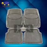 车旅伴 PVC通用型汽车脚垫 防水防滑防雨雪泥透明环保水晶软胶地垫 5件套