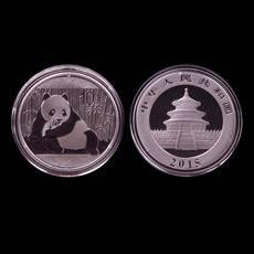2015年熊猫银币纪念币.1盎司熊猫币999纯银.中国金币国币