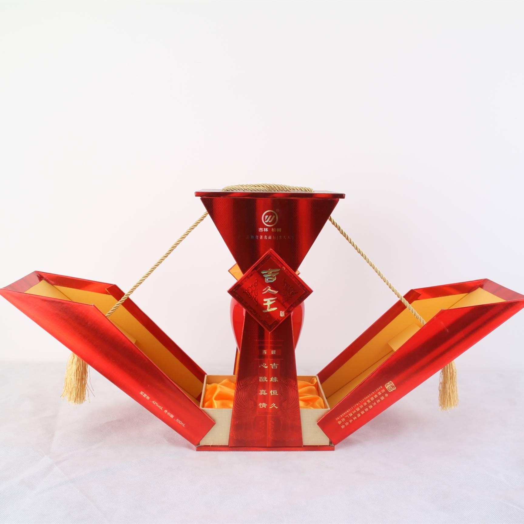 吉久王中国红42°500ml∕瓶 浓香型白酒 纯粮酿造
