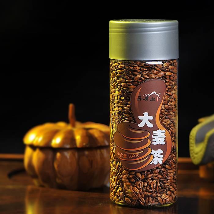 西黄山花草茶 烘培型 原味大麦茶 麦芽茶 散装 罐装300g