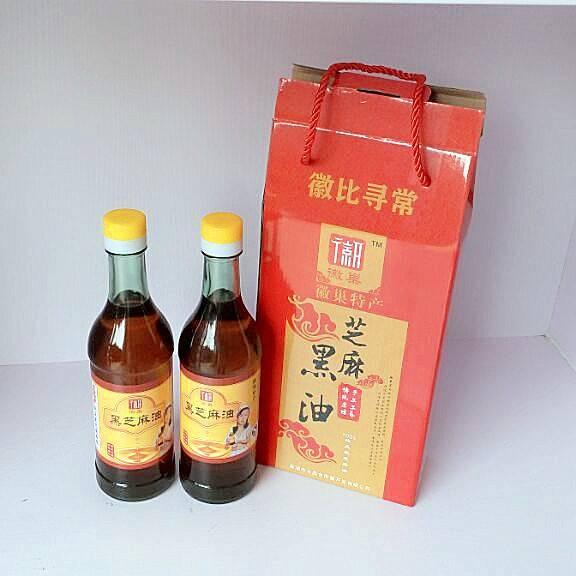 徽巢   调味料 调味油     黑芝麻油 425ml ×2