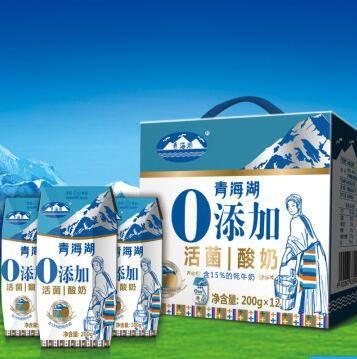 共和馆青海湖 0添加酸奶200ml*12/箱