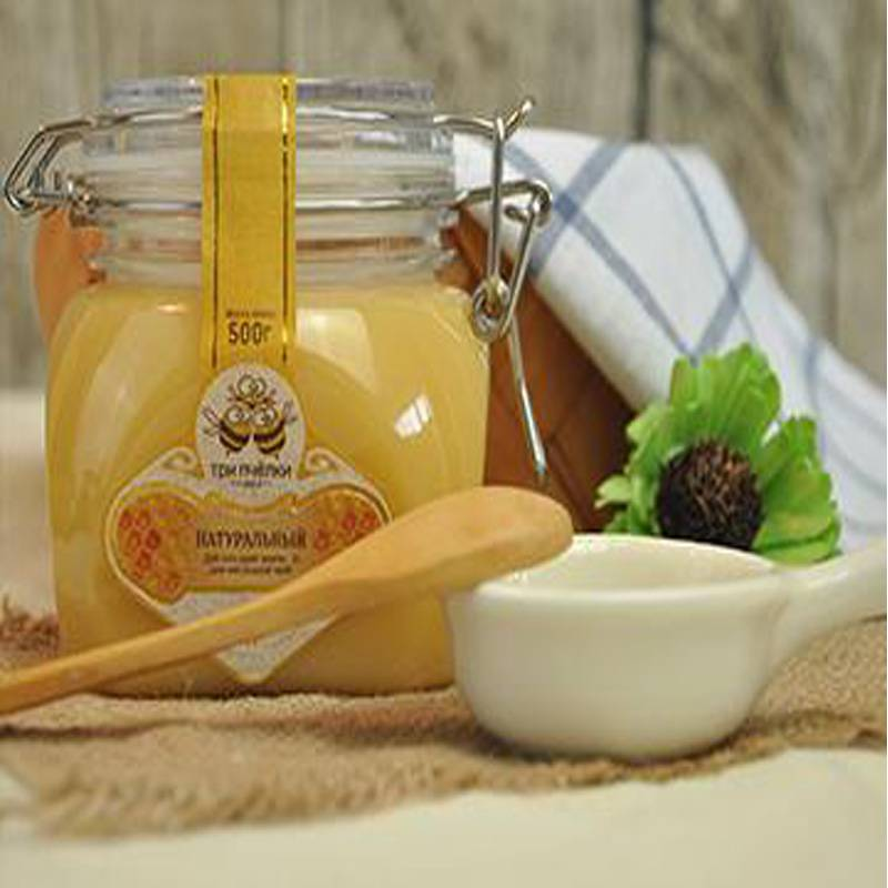俄罗斯原装进口椴树蜜蜂蜜 特里普乔卡 天然野生蜂蜜500g包邮(新疆、青海、西藏除外)