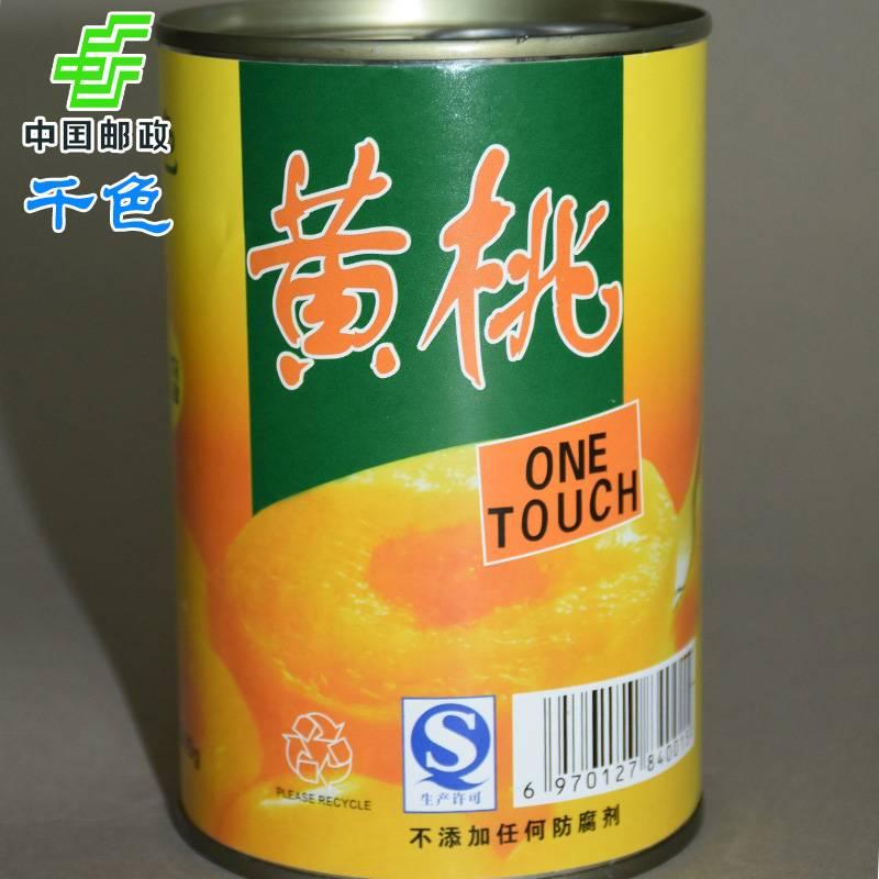 千色 黄桃水果罐头425g*12罐/箱包邮